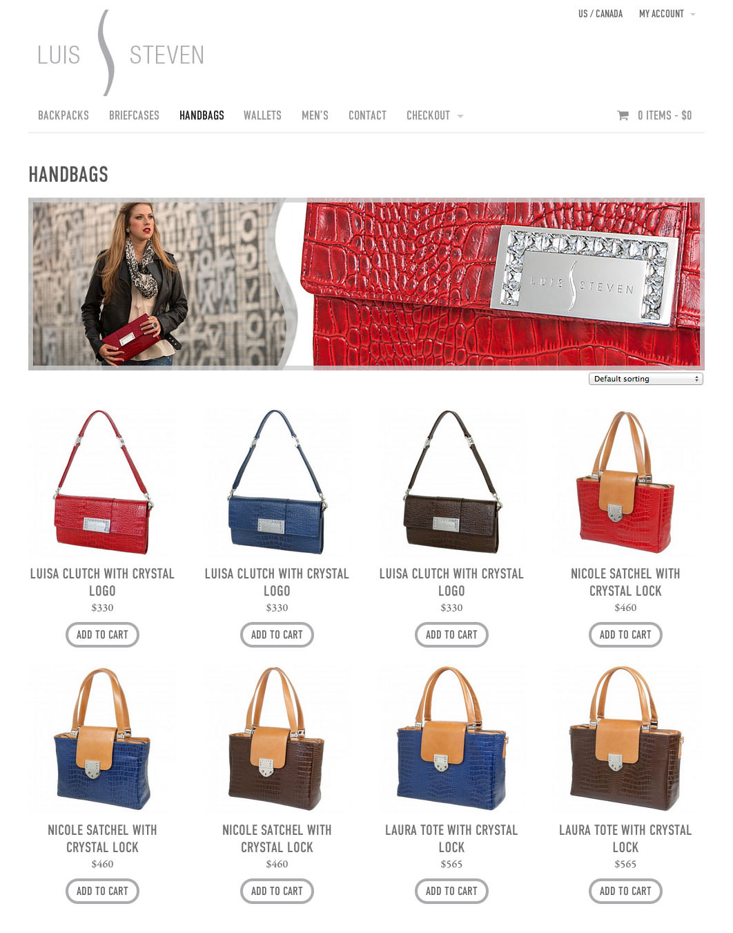 Luis Steven Website - Handbags