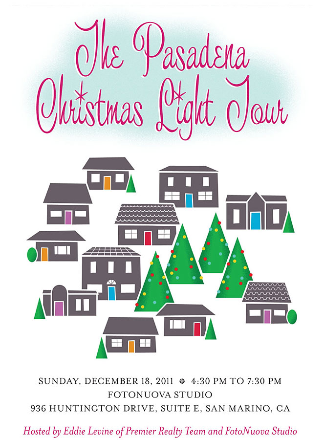 Pasadena Christmas Postcard - Front