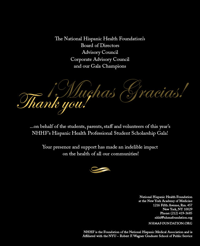 NHHF Program - Back Cover