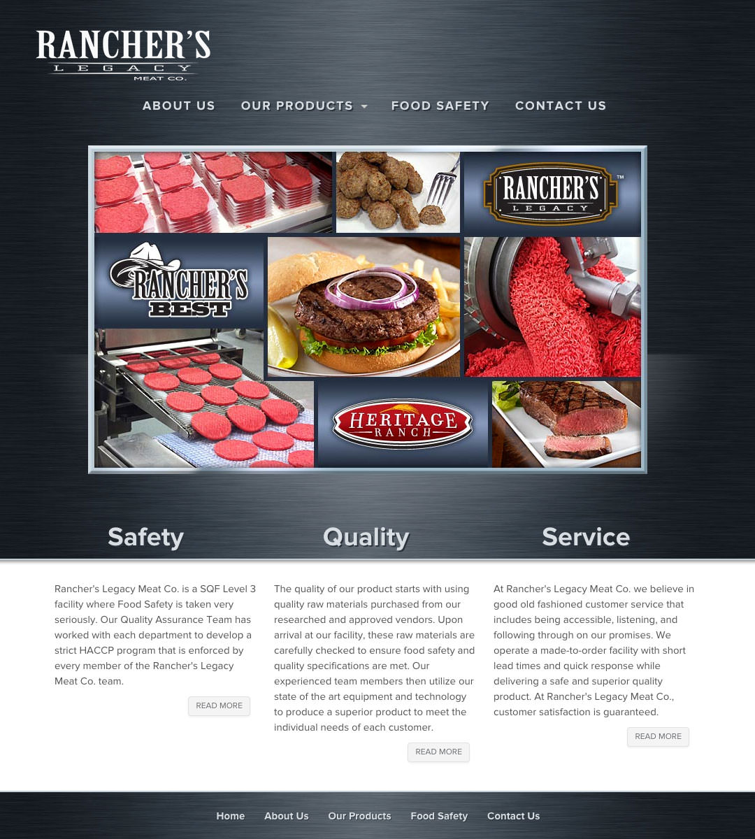 Rancher's Legacy Website - Homepage