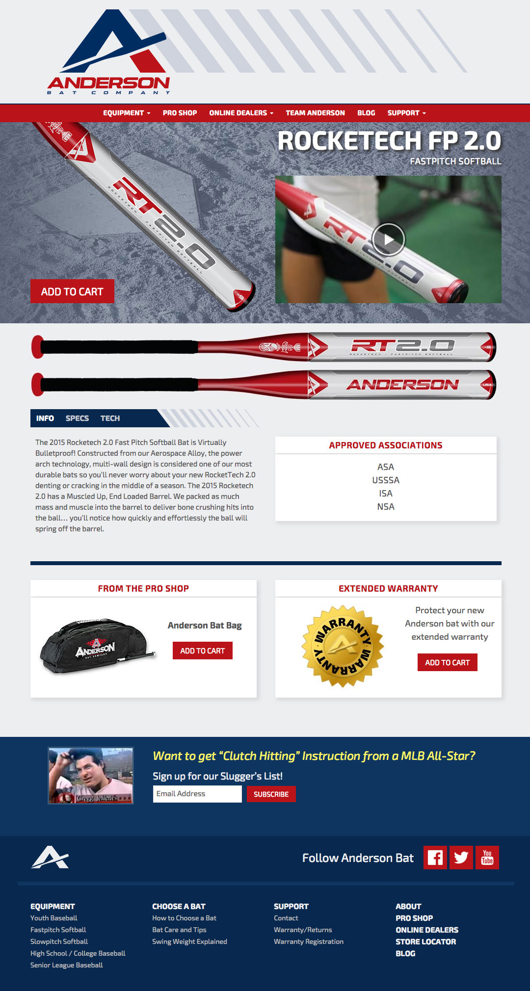 Anderson Bat Website - RockeTech FP